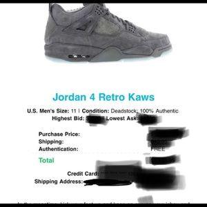 8c6ed8ff7805 Jordan Shoes - Jordan 4 Kaws